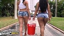 BANGBROS - Curvy Latin Babes Rachel Starr & Rose Monroe Getting Wet Thumbnail