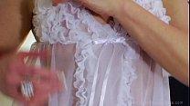 see thru lingerie models