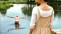 Irina Goryacheva Nude Swimming in The Lake