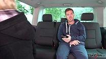 Blonde schoolgirl easy convinced to fuck in driving van with stranger Vorschaubild