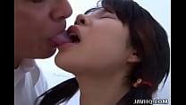 Japanese teen gets fingered then sucks Uncensored thumbnail