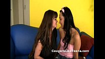 Busty older lesbian cougar undresses and makes ... thumb