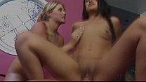 Two Teen Sluts sharing cock