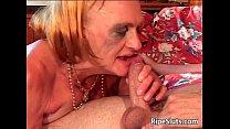 Old mature slut with big tits gets her pornhub video