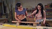 Blonde fisting lesbian carpenters