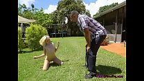 Submissive Teen Kimberly Moss Is Put On A Leash