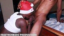 Naughty Santa fucks his black ass ebony girl neighbour صورة