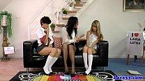 Schoolgirl euros showing bodies off to mature