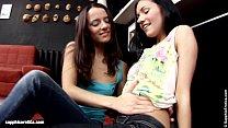 Intense Duo Sasha and Tasha put a big dildo to ...