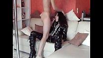 nice girl in latex fucked by her skinny friend [라텍스 Latex]