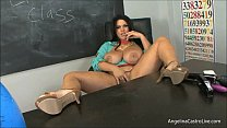 Big Titted Latina Angelina Castro in Classroom?!