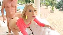 Karina Grand in gonzo creampie sex scene by All...