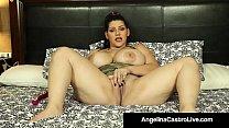 Cuban Princess Angelina Castro Dildo Bangs Her Juicy Pussy! Thumbnail