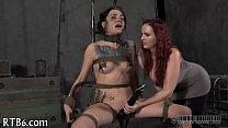 Enchanting babe gets lusty castigation