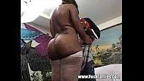 Horny ebony whore goes crazy sucking