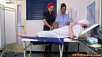 Euro nurse cocksucking naked patient