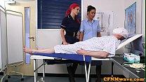 Euro nurse cocksucking naked patient thumb