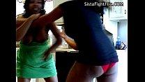 Ebony Action Strip Catfights