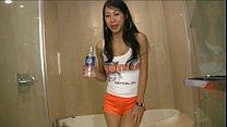 Tia Ling asian pornstar wetting her thumbnail