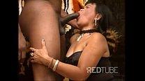 Sexy mature asian Sarah gets a huge black cock thumbnail