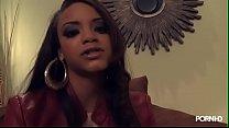 Big Tit Rihanna Lookalike Takes Good Dick