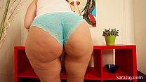 Big Tit MILF Sara Jay Fingers Her Tight Pussy