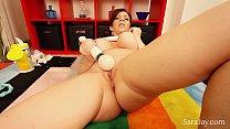 Big Tit MILF Sara Jay Fingers Her Tight Pussy | nude bengali girl thumbnail