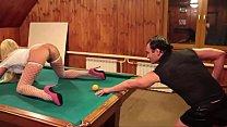 Секс А� �ександра Пистолетова и Вероники Ригал на бильярдном столе