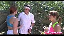 Horny Best Friends Fuck Their Tennis Coach - BFFlove.com video
