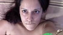 Close-up shaving and masturbation