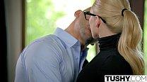 TUSHY Curvy AJ Applegate Punished By Her Boss صورة