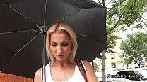 Beautiful blonde amateur anal fucked POV