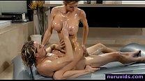 Alexis Fawx blonde milf gives amazing nuru massage and fuck