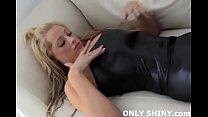 My tight black PVC panties are so hot Thumbnail