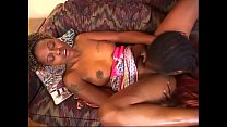 Black dude eats curvy slut's pussy on the couch then they bang - 9Club.Top