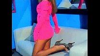 Stunning webcam girl IbizaSunrise playing without her panties on