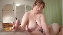 Chubby Granny Wanks Cock