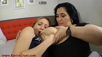 Hot Kisses Milf BBW vs Thin Young Girl