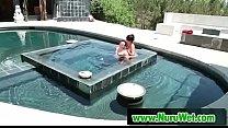hot masseuse gives nuru pleasure - RomeoPrice & AnissaKate Thumbnail