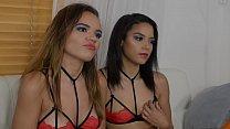 Maya Bijou and Naudi Nala Interview before Threesome Scene thumbnail