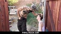 FamilyDick - Trailer Park Stepdaddy Fucks His Boy After Catching Him Smoking