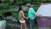 German Teen with Big Tit fuck older Men Public ...