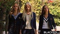 BLACKED Preppy Girl Threesome Get Three BBCs thumbnail