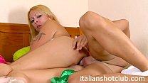 blonde slutty milf fucking anal with big cock
