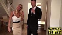 Stunning blonde slut Tia Layne riding Pascals big hard dick