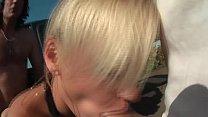 Smoking Girl fucks in Public - öffentlich gefickt - HD - German Vorschaubild