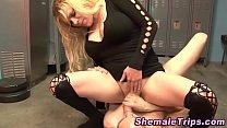 Dominating shemale spunks pornhub video