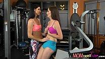 India Summer and Bella Skye amazing threeway in the gym pornhub video