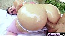 (allie haze) Deep Anal Sex With Oiled Curvy Big Ass Girl video-05