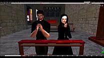 Screenshot SecondLife P reacher and Megan Fox